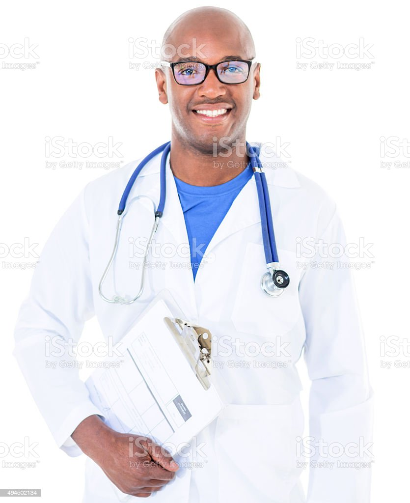 African American male doctor stock photo
