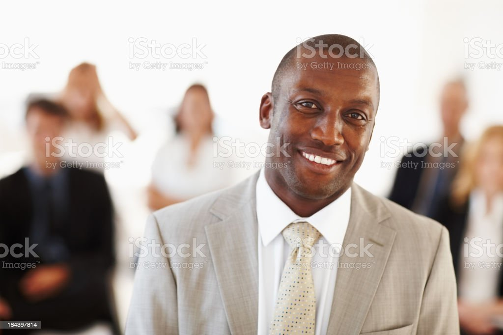 African American male executive smiling royalty-free stock photo