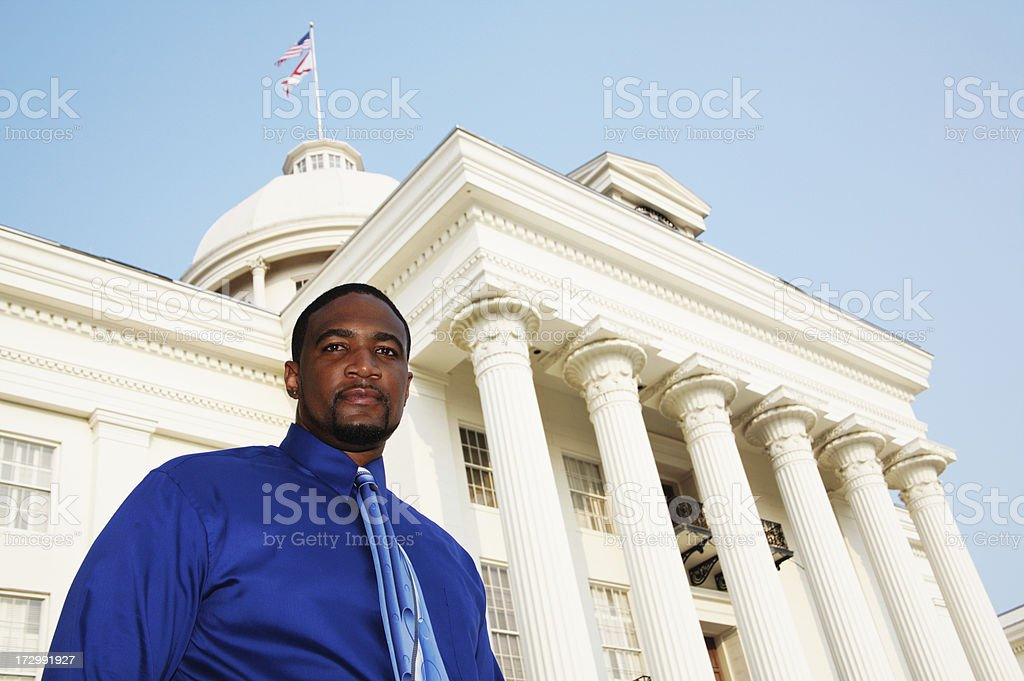 African American Male Government royalty-free stock photo