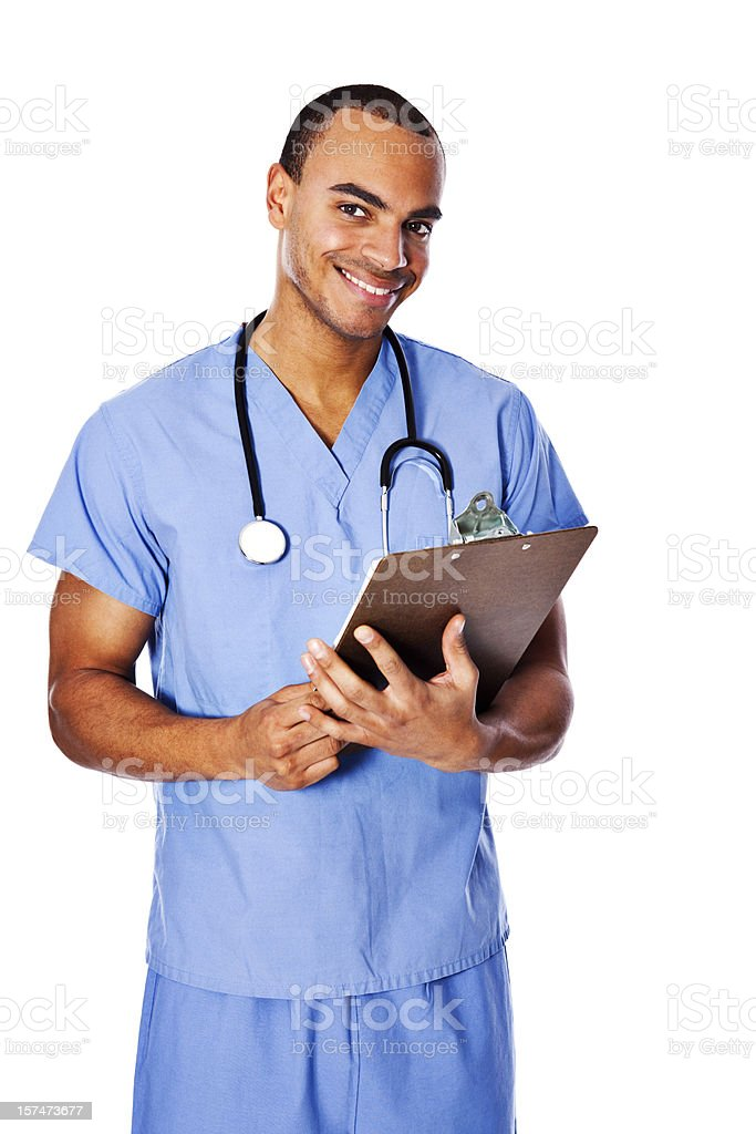 African American Male Nurse royalty-free stock photo