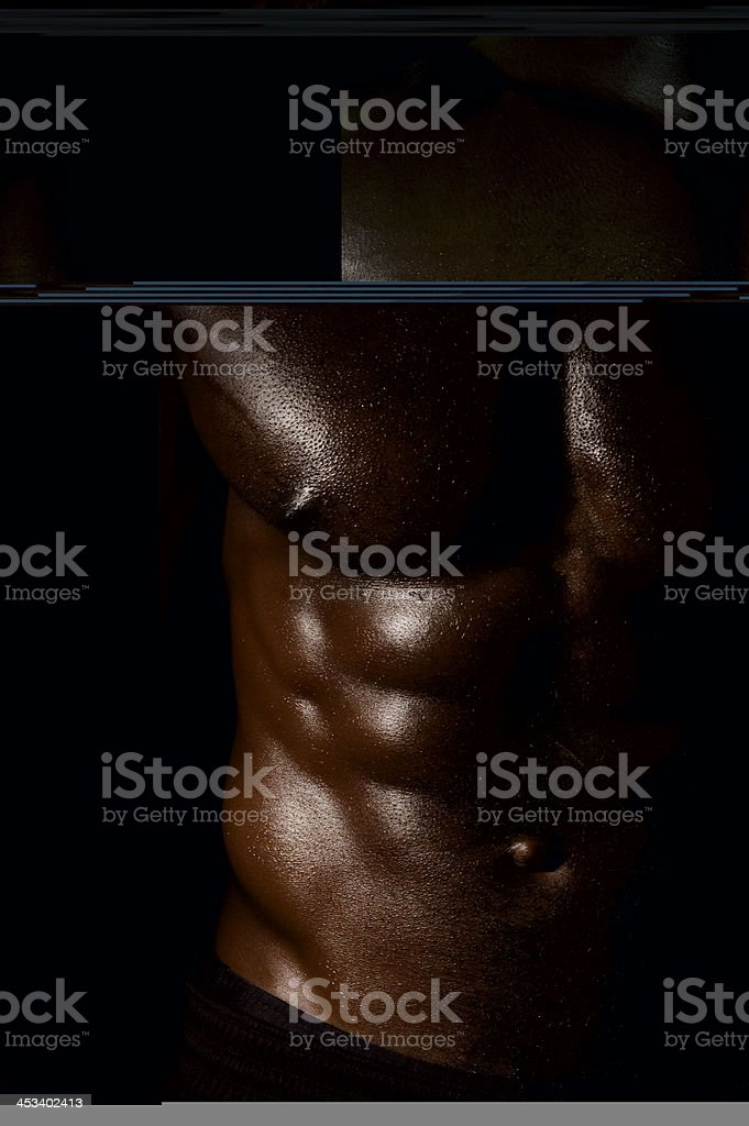 African American Male Torso royalty-free stock photo