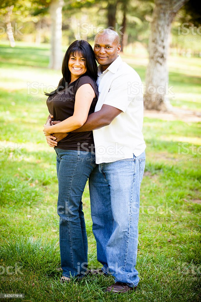 African American Man and Guatemalan Woman Couiple stock photo