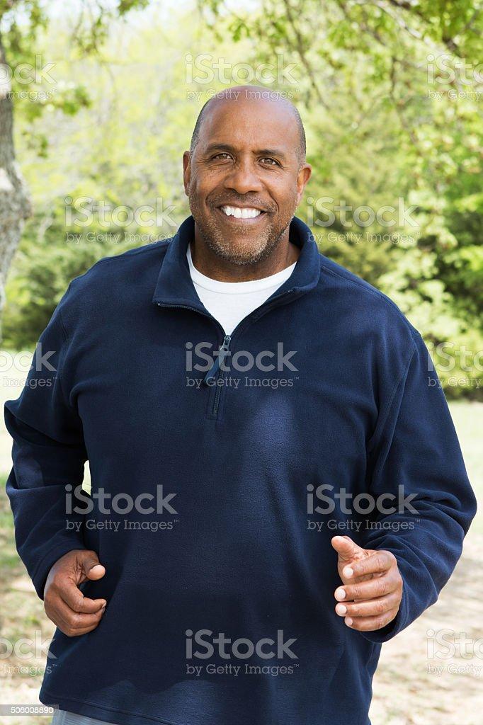 African American Man Exercising stock photo