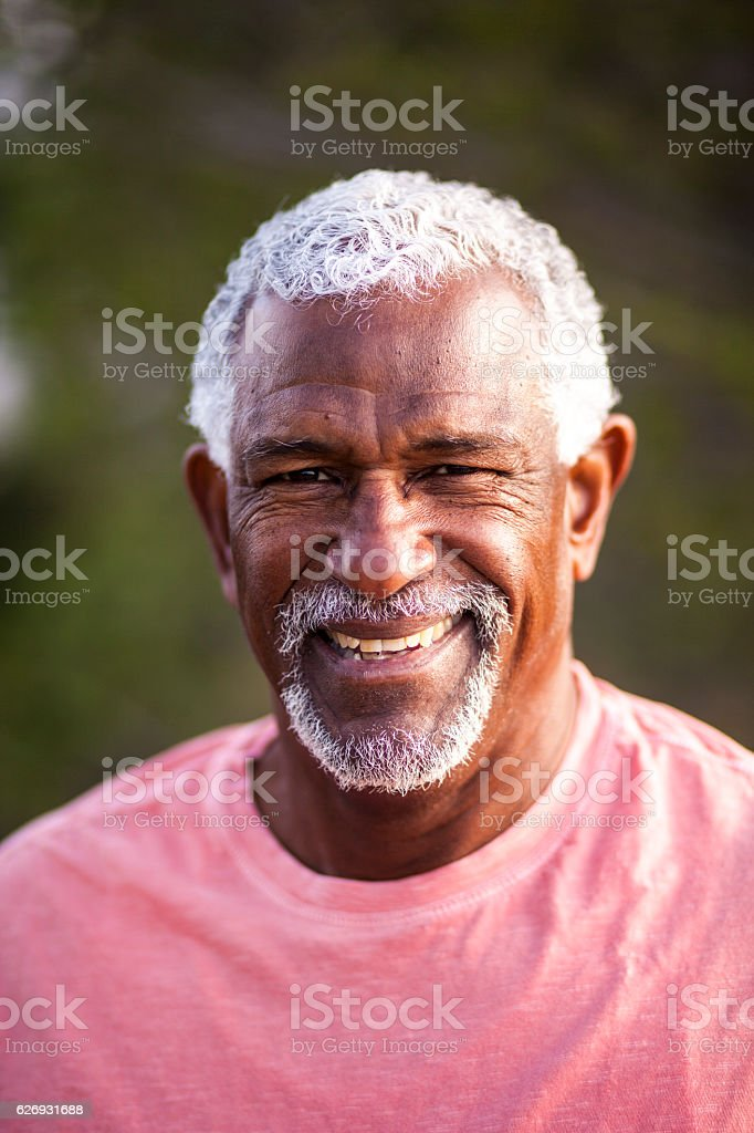 African American Man Outdoor Portrait stock photo
