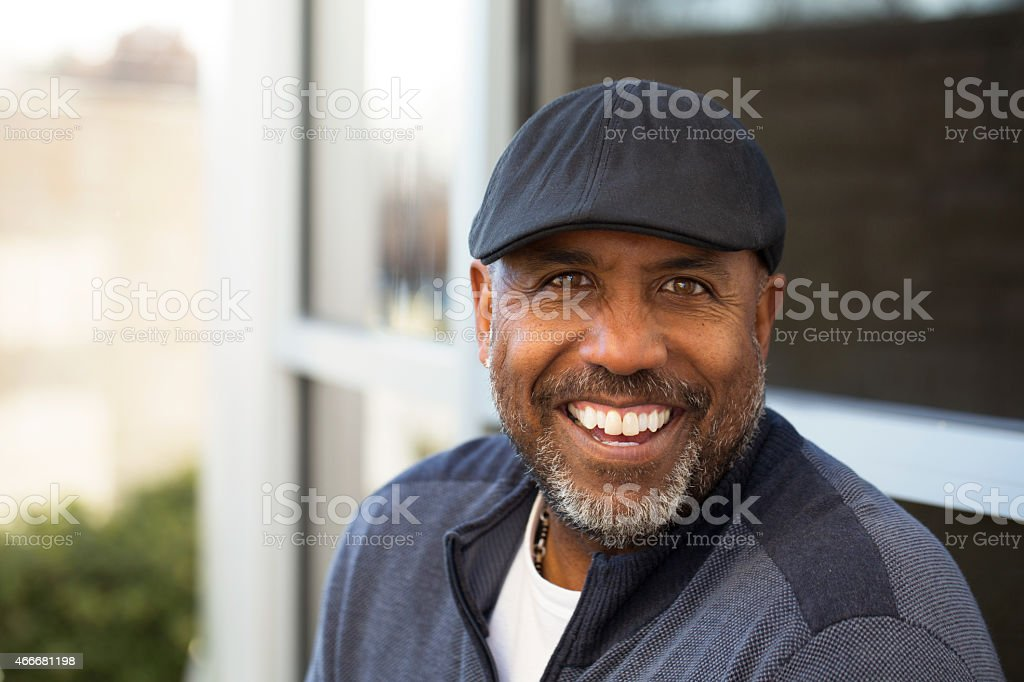 African American Man Smiling stock photo
