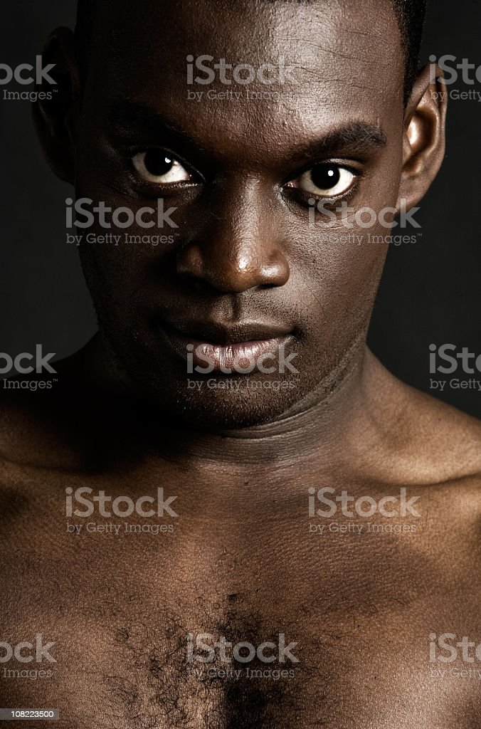 African American man staring royalty-free stock photo