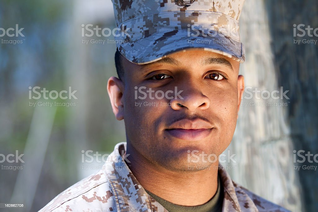 African American Marine stock photo