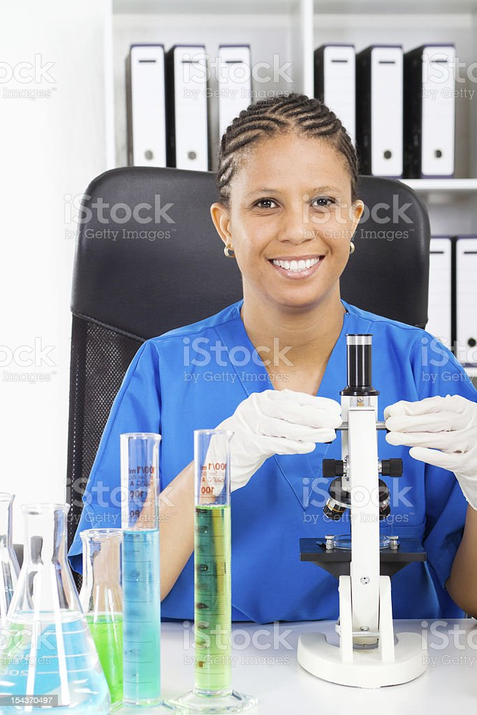 african american medical researcher royalty-free stock photo