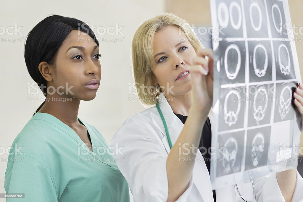 African American medical student stock photo