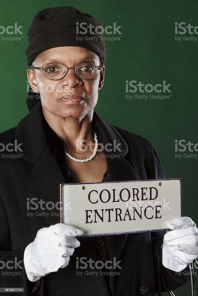 African American Performance Artist Portraying Rosa Parks stock photo