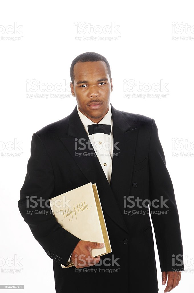 African American preacher stock photo