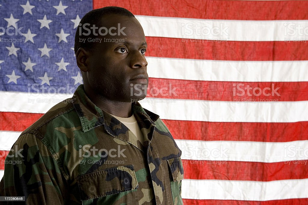 African American Soldier stock photo