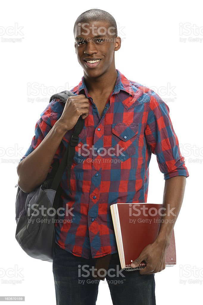 African American student smiling royalty-free stock photo