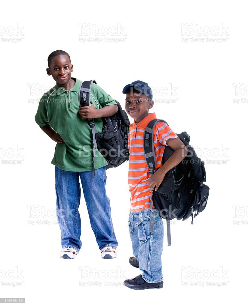 African American Students royalty-free stock photo