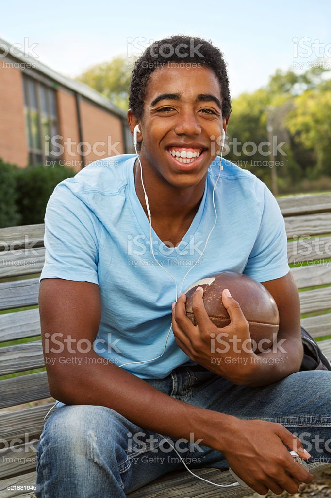 African American Teenage Athlete stock photo