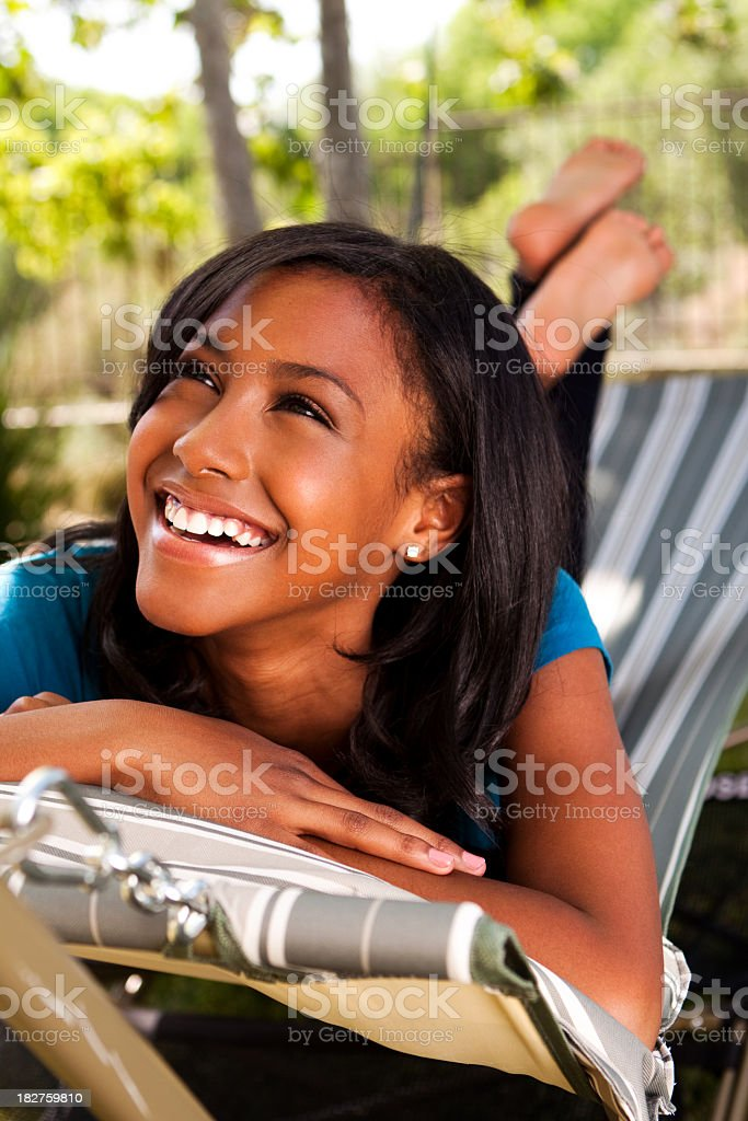 African American Teenage Girl royalty-free stock photo