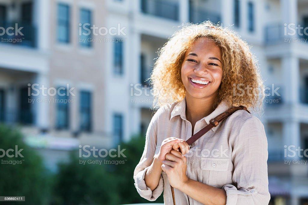 African American teenage girl stock photo