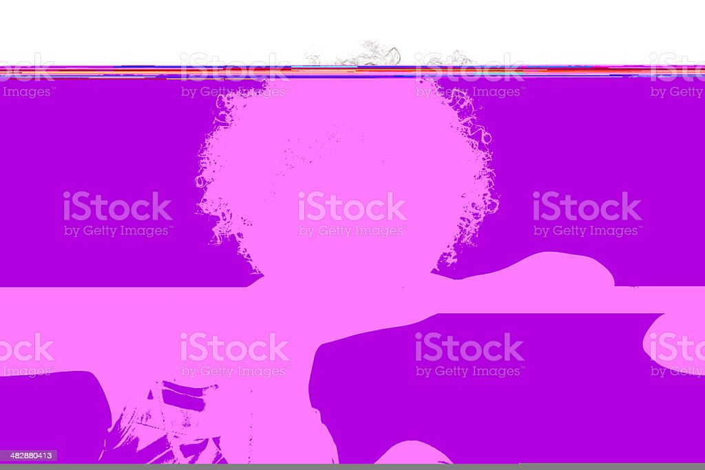 African American Toddler Girl Making Face and Sticking Tongue Out royalty-free stock photo