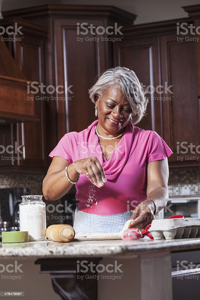 African American woman baking royalty-free stock photo