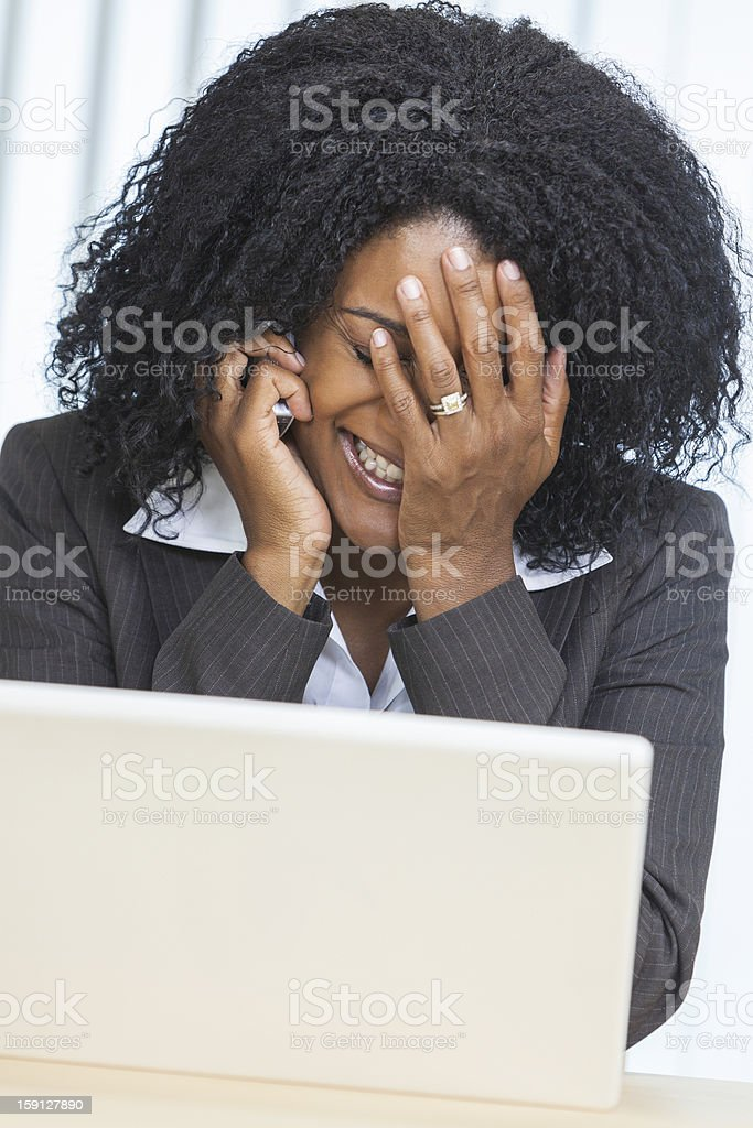 African American Woman Businesswoman Stress royalty-free stock photo