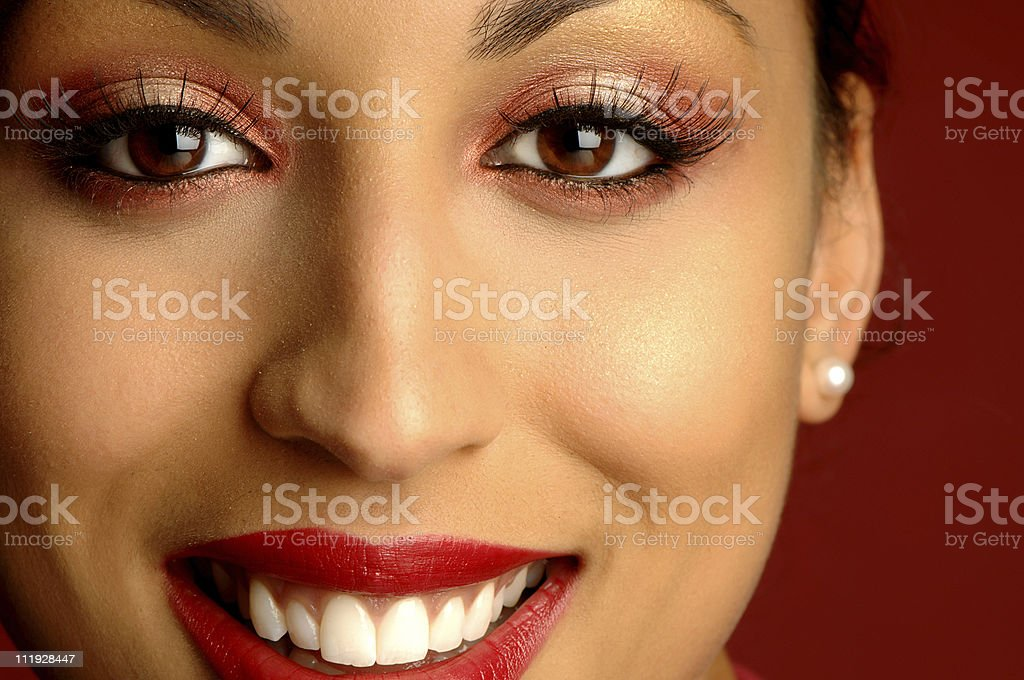 African American Woman Close Portrait royalty-free stock photo