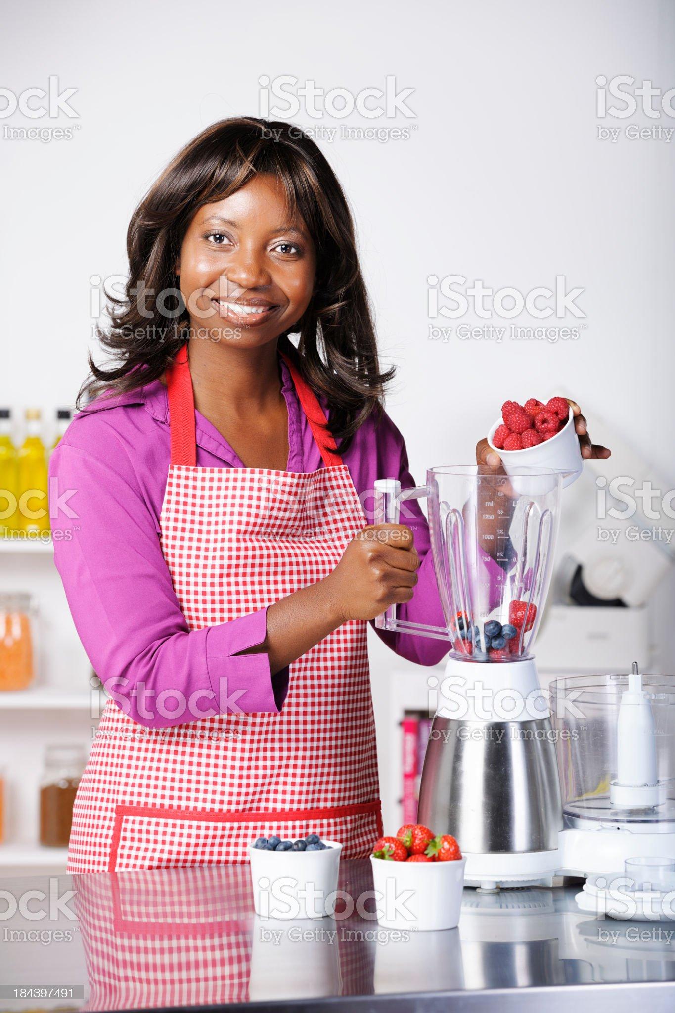 African American Woman Enjoying Healthy Living royalty-free stock photo