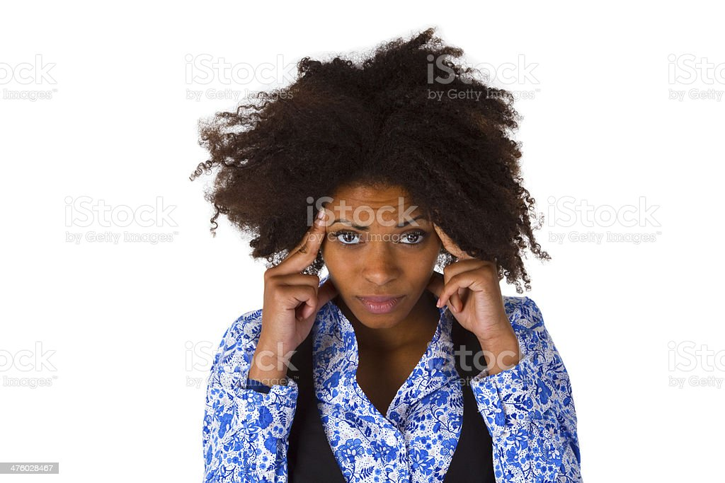 African american woman feels sick stock photo