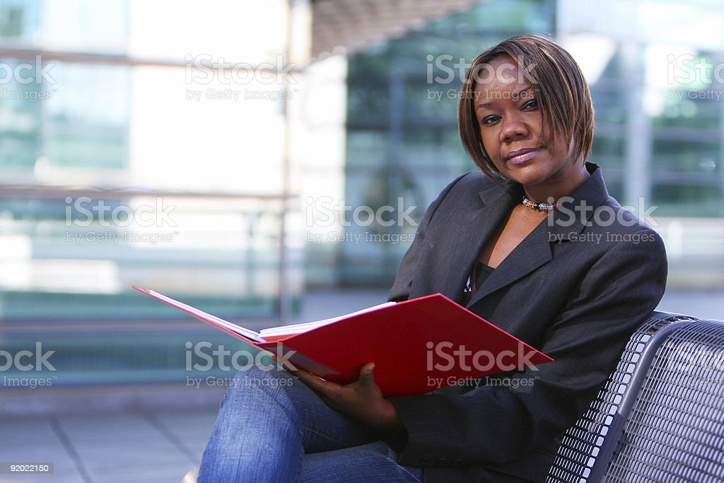 African american woman in office stock photo