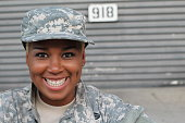 African American Woman in the military