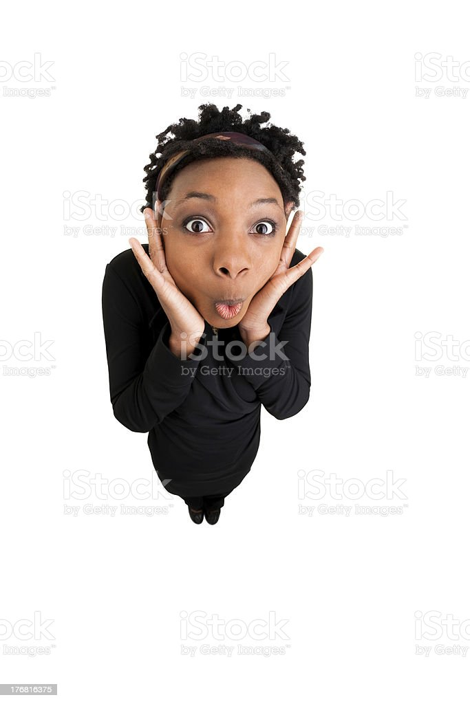 African American Woman Is Surprised royalty-free stock photo