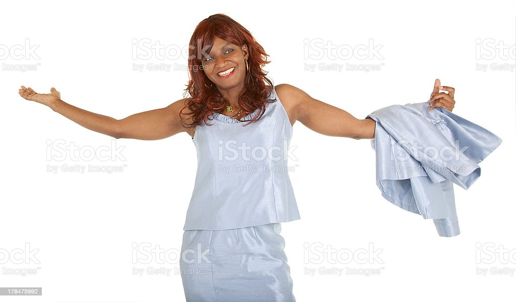 African American Woman Overjoyed about Something stock photo