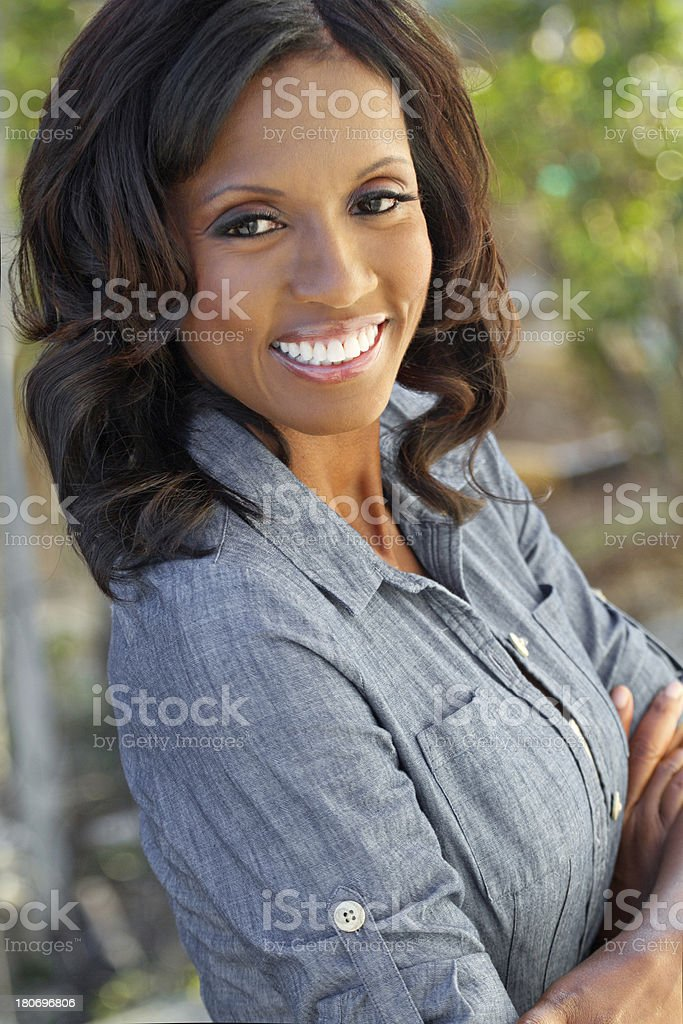 African American Woman Smiling royalty-free stock photo