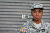 African American Woman Soldier Isolated