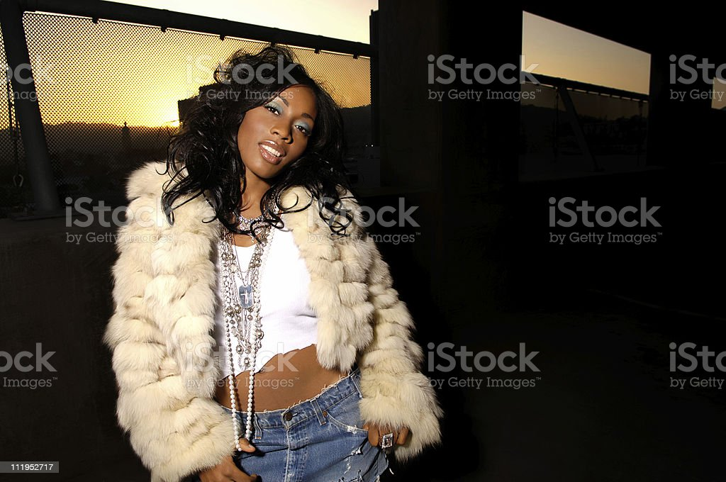 African American Woman with Hip Hop vibe royalty-free stock photo