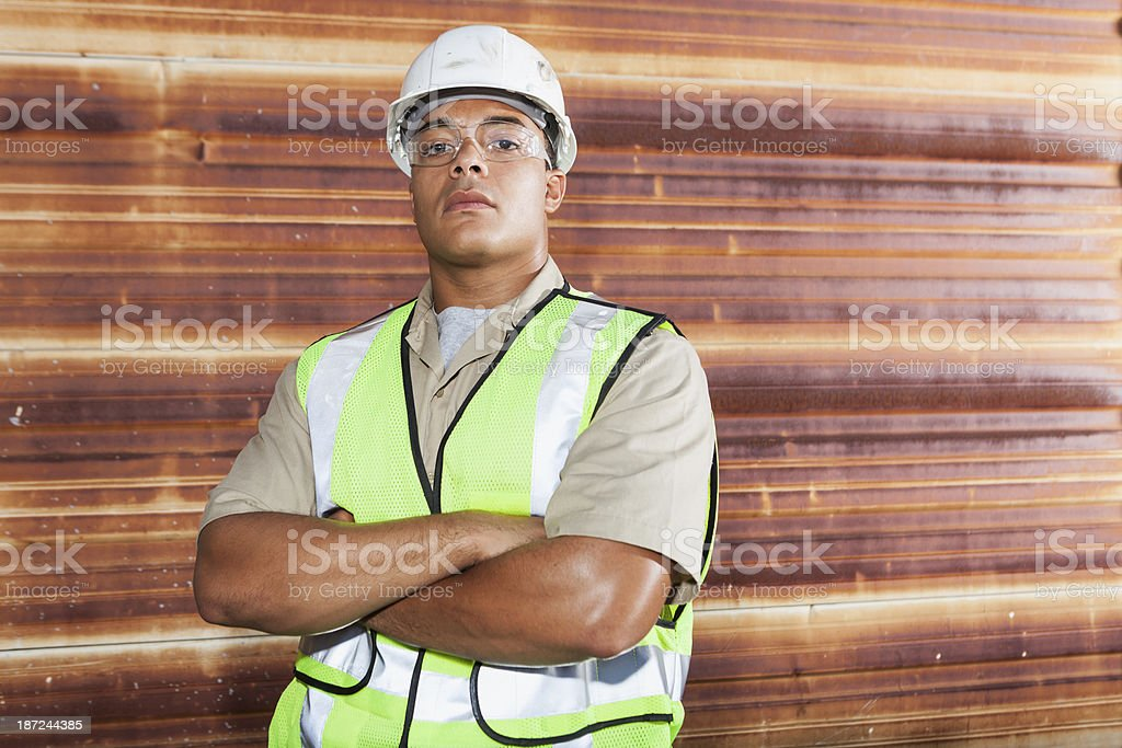 African American worker stock photo