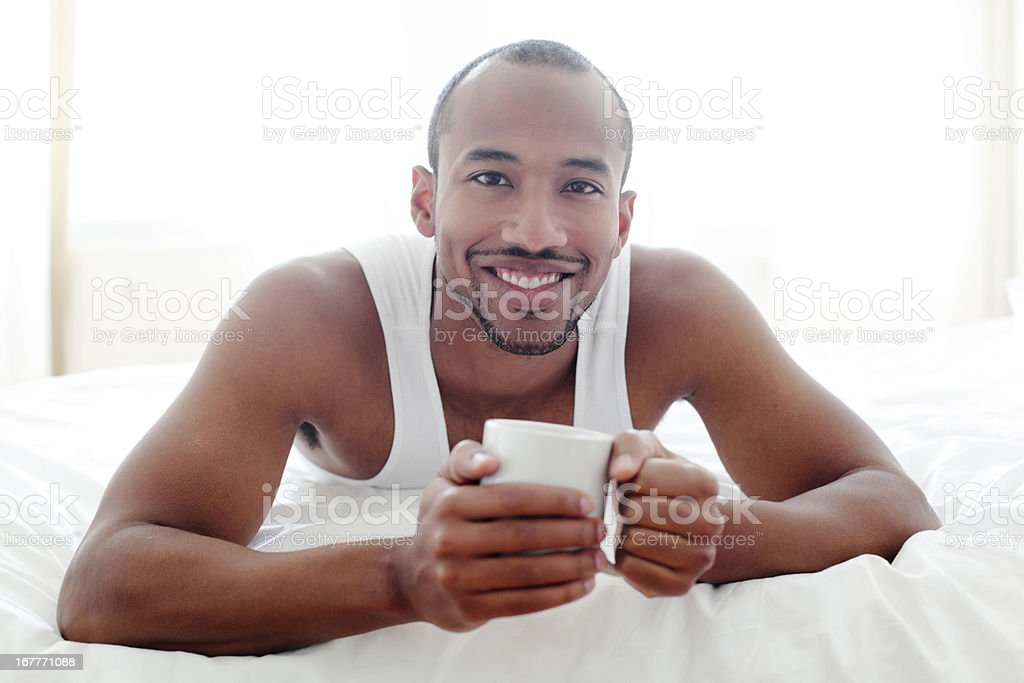 African american young adult smiling royalty-free stock photo
