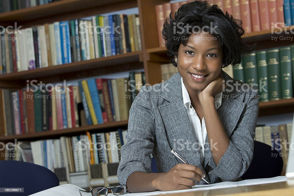 African american young businesswoman stock photo