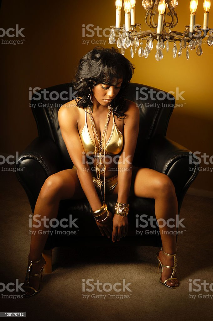 African American Young Woman Hip Hop Vibe stock photo