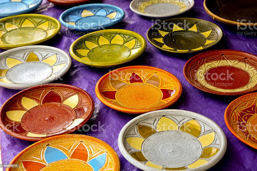 African Art Plates stock photo
