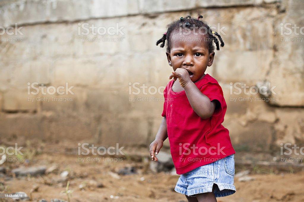 African Baby Girl stock photo