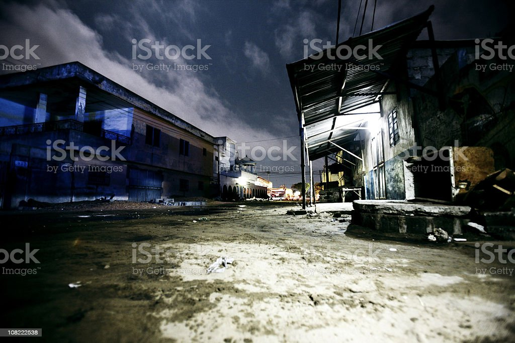 african backstreets stock photo