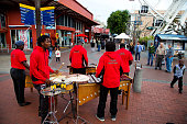 African Band doing a street presentation at V&A Waterfront