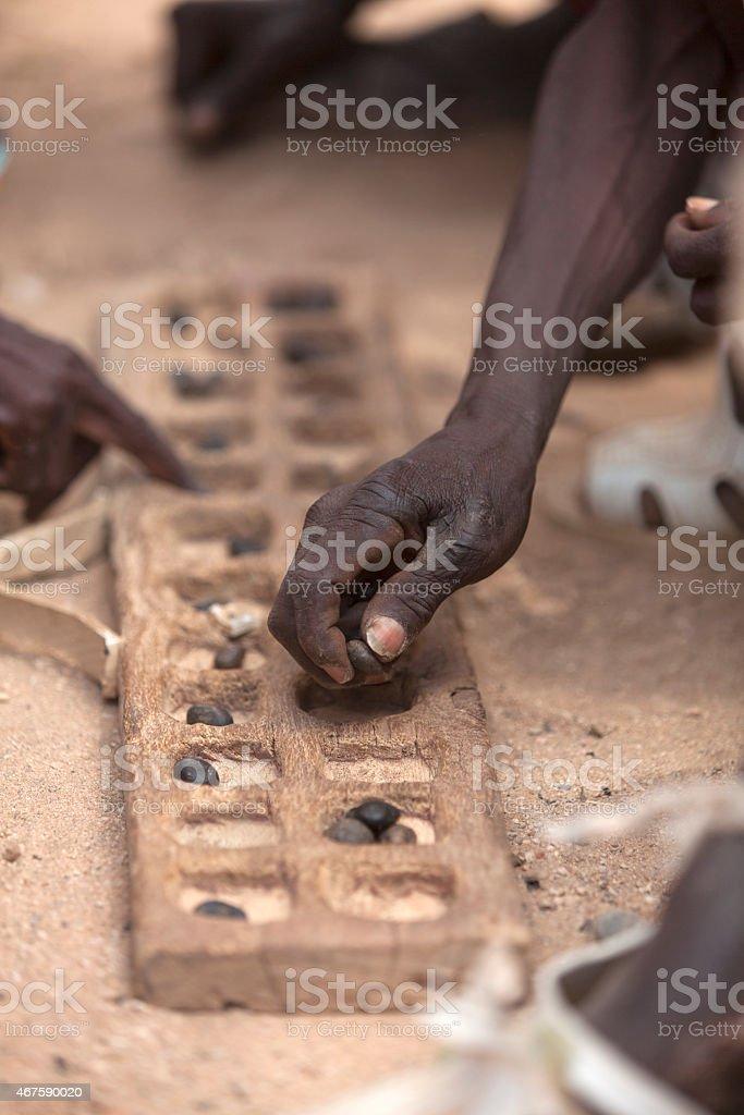 Juego africano de Bao stock photo