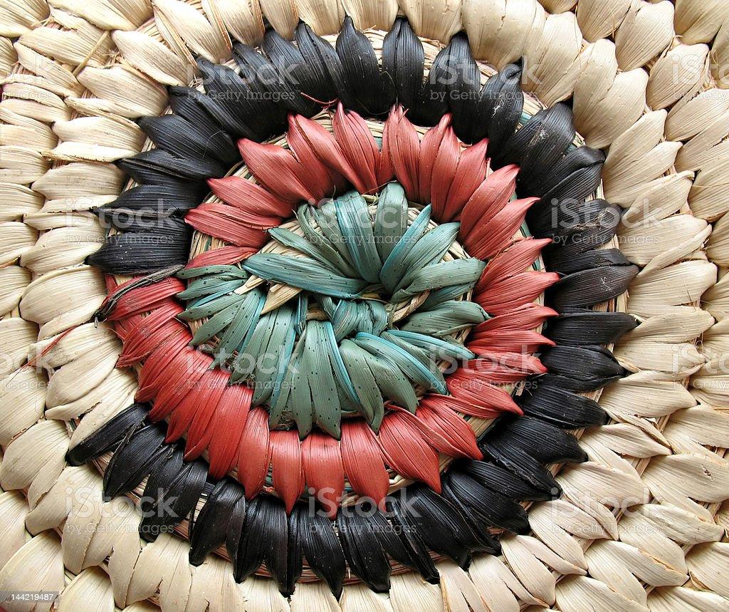 African Basket Design 2 stock photo