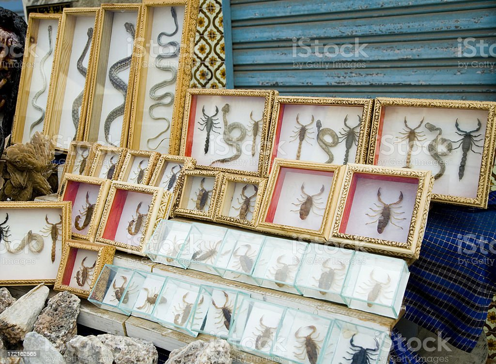 African Bazar Artifacts royalty-free stock photo