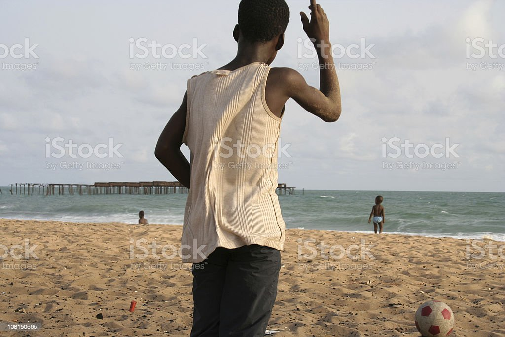 african beach football royalty-free stock photo