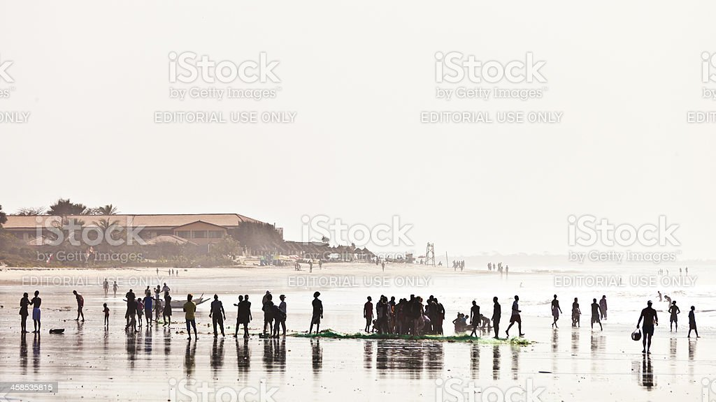 African beach scene. stock photo