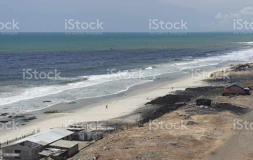 African Beachfront stock photo