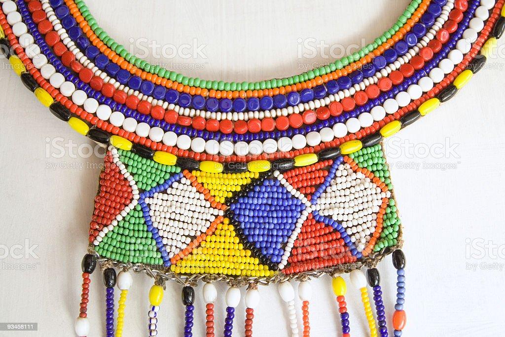 African beadwork royalty-free stock photo