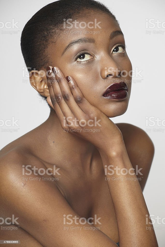 African Beauty (unretouched) stock photo